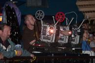 Luke Savisky on the projectors.